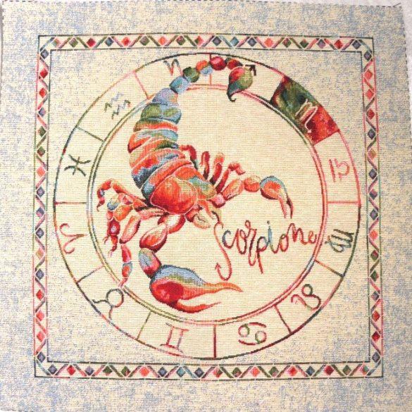 Horoszkóp, jacquard párna panel - skorpió