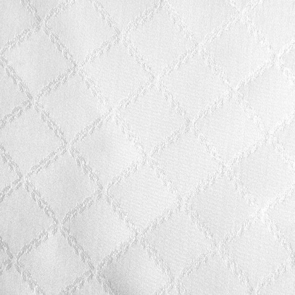 KERPEN, rácsmintás, fehér egyszínű, teflonos abroszanyag méteráru