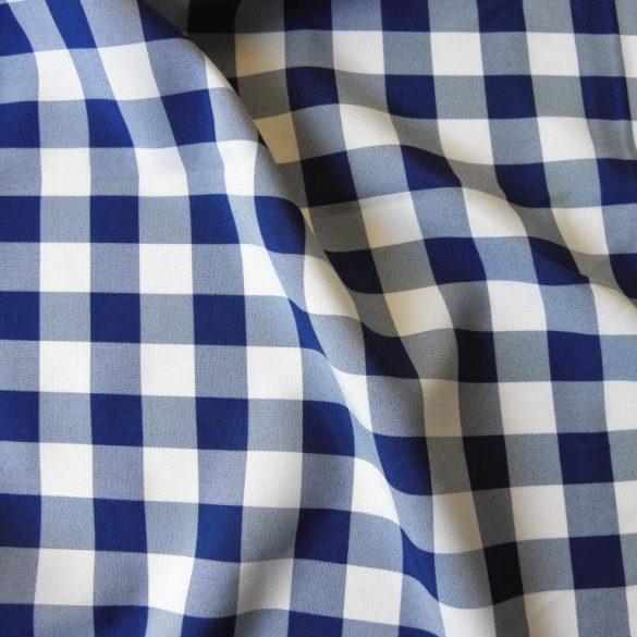 DOBROVA - abrosz, dekorációs anyag, kék kockás