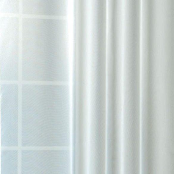 Fényáteresztő voile függöny anyag, fehér, 180 cm magas
