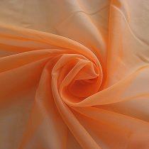 Világos narancs voile, fényáteresztő függöny anyag, 180 cm magas
