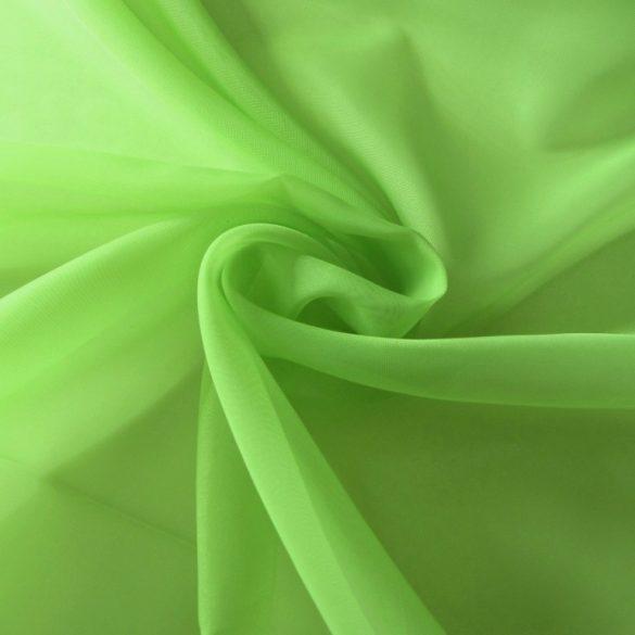 Frisszöld, egyszínű voile, fényáteresztő függöny anyag, 180 cm magas