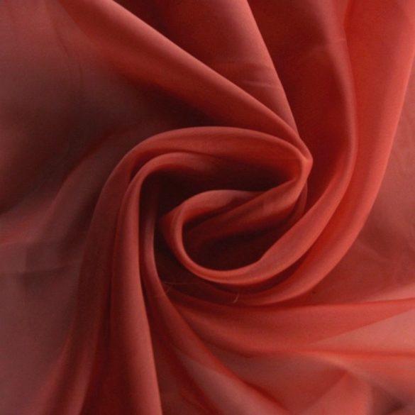 Terrakotta, egyszínű voile, fényáteresztő függöny anyag, 180 cm magas