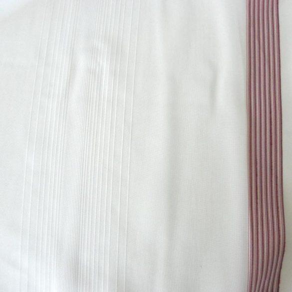 CSILLA, voile fényáteresztő függönyanyag, mályva selyemfényű csíkmintával, 180 cm magas