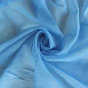 Gyűrt voile fényáteresztő függöny anyag, világoskék
