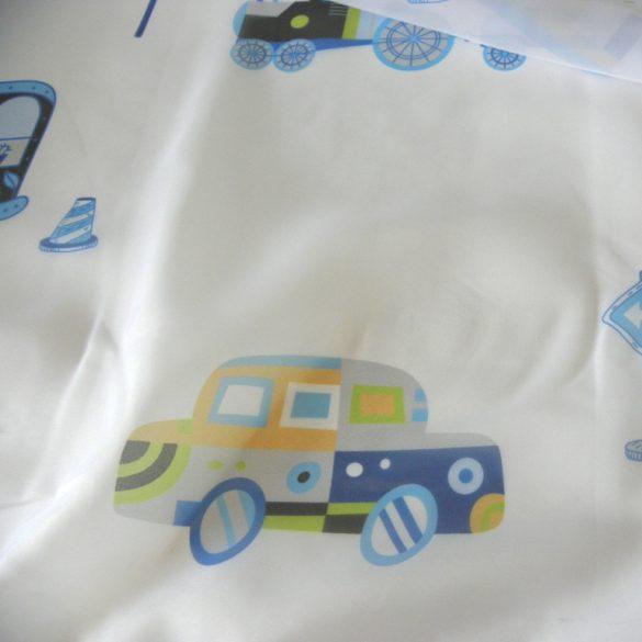 TRAFFIC, gyerekmintás, járműves voile, fényáteresztő függöny anyag, 180 cm magas