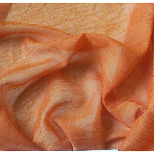Gyűrt voile fényáteresztő függöny anyag, terrakotta