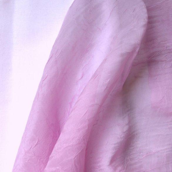 Gyűrt voile fényáteresztő függöny anyag, levendulalila