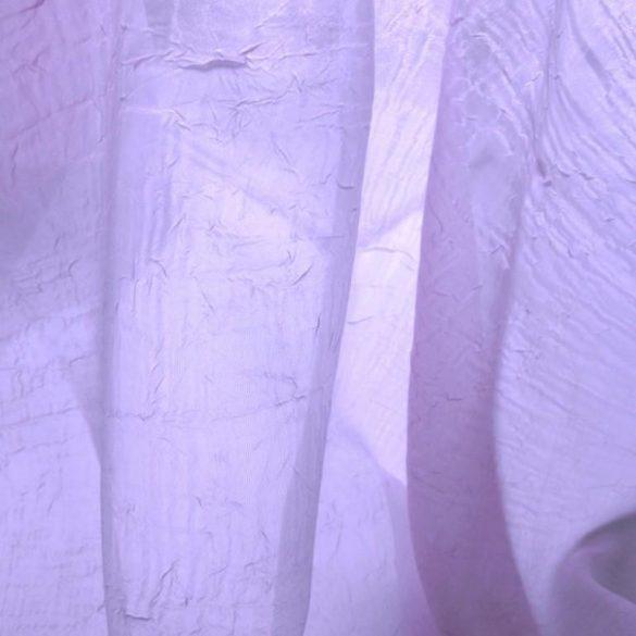 Gyűrt voile fényáteresztő függöny anyag, levendulakék - 270 cm magas