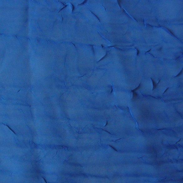 Gyűrt voile fényáteresztő függöny anyag, navy, tengerészkék, 280 cm magas