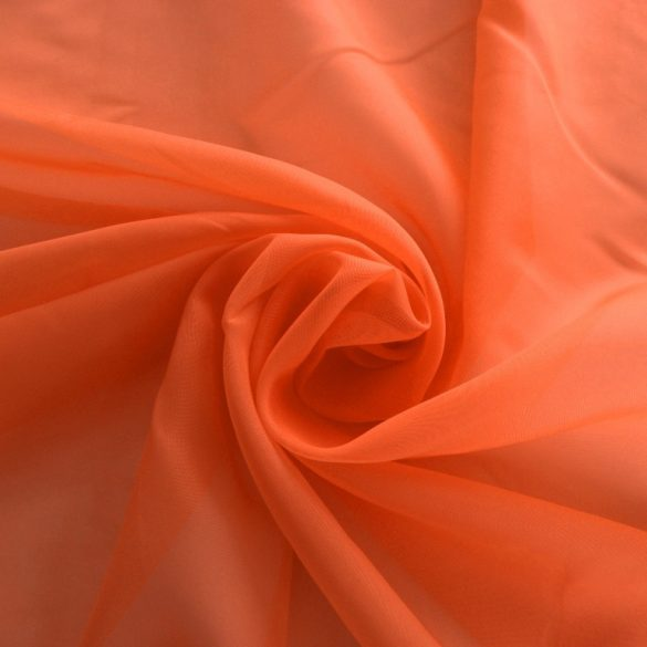 Sötét narancs voile, fényáteresztő függöny anyag, 300 cm magas