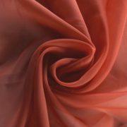 Terrakotta, egyszínű voile, fényáteresztő függöny anyag, 300 cm magas