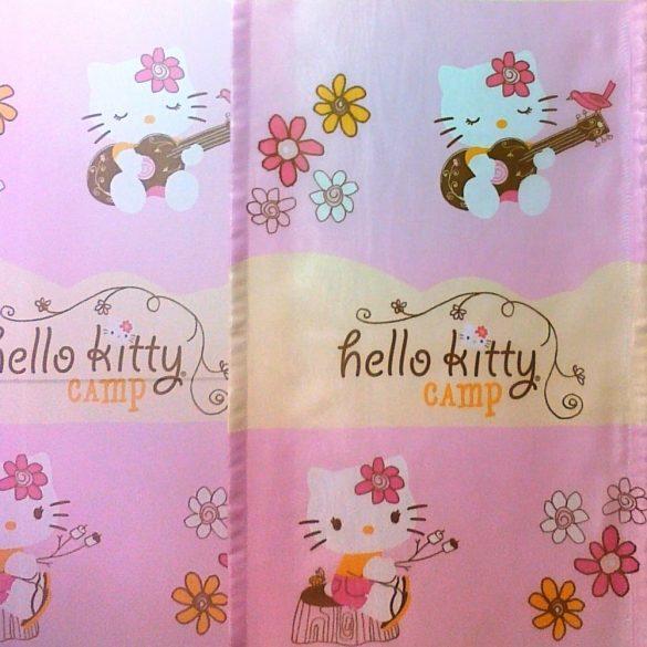 Hello Kitty mintás, nyomott voile függöny anyag
