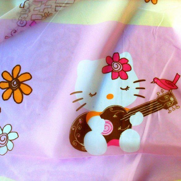 Hello Kitty mintás, nyomott voile függöny anyag - 300 cm magas