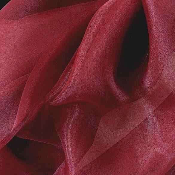 Organza függöny anyag, egyszínű, bordó