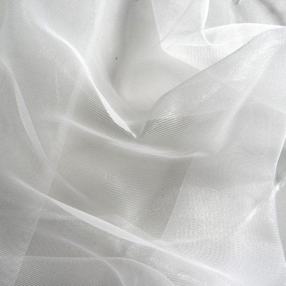 MIA, hálós organza fényáteresztő függöny anyag, fehér