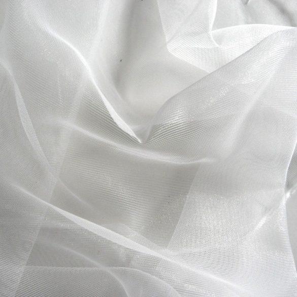 Hálós organza fényáteresztő függöny, dekorációs anyag, nyersfehér - maradék darab: 1,4 m