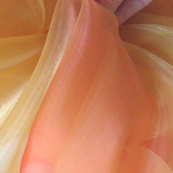 MENDOZA, színátmenetes organza függöny anyag, narancs-napsárga