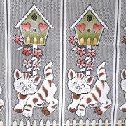MACSEK, színes német jacquard csipke vitrázsfüggöny anyag