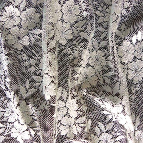 FLO, virágmintás ekrü jacquard függöny anyag, 180 cm magas