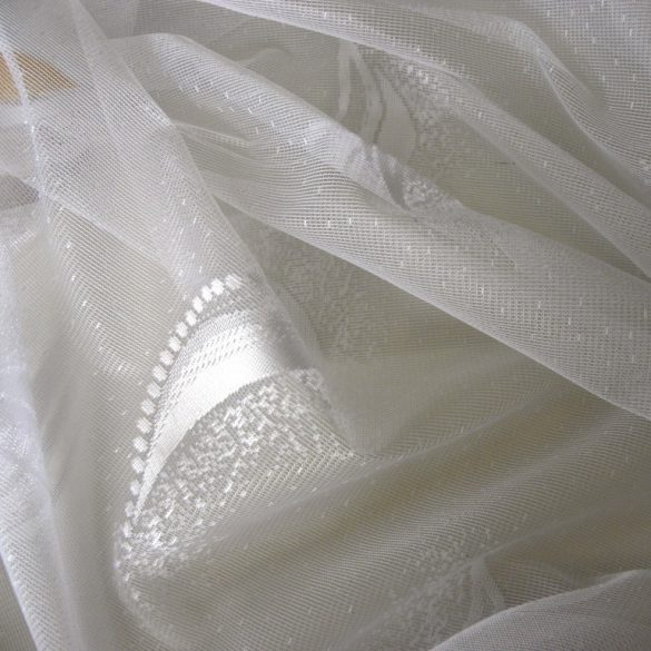 DROP, barack-capuccino cseppmintás jacquard függöny anyag, 180 cm magas