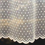 PÖTYI ekrü pöttyös mintás jacquard függöny anyag, 180 cm magas