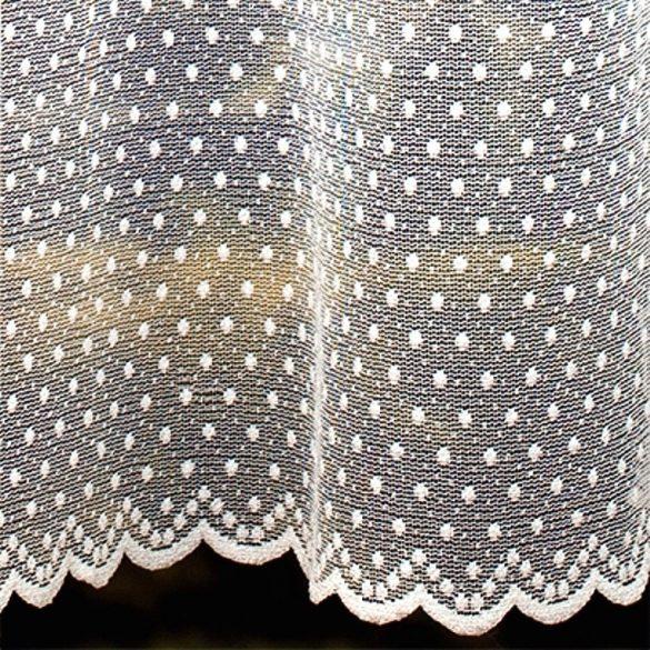 PÖTYI fehér pöttyös mintás jacquard függöny anyag