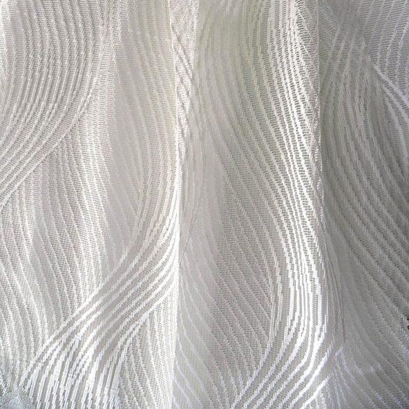 TILDE, hullámmintás fehér jacquard függöny anyag,  280 cm magas - maradék darab