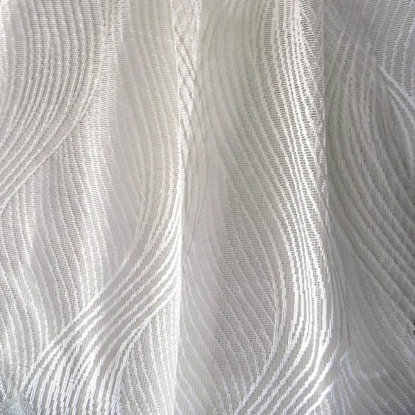 TILDE, hullámmintás fehér jacquard függöny anyag