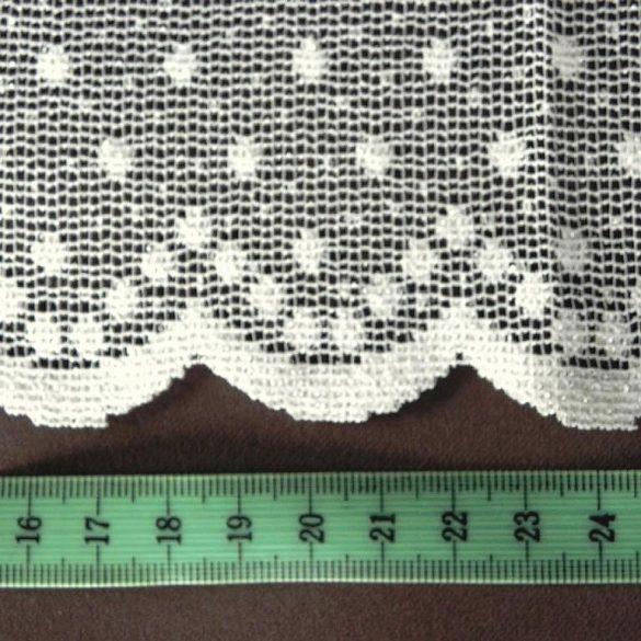PÖTYI ekrü pöttyös mintás jacquard függöny anyag, 270 cm magas