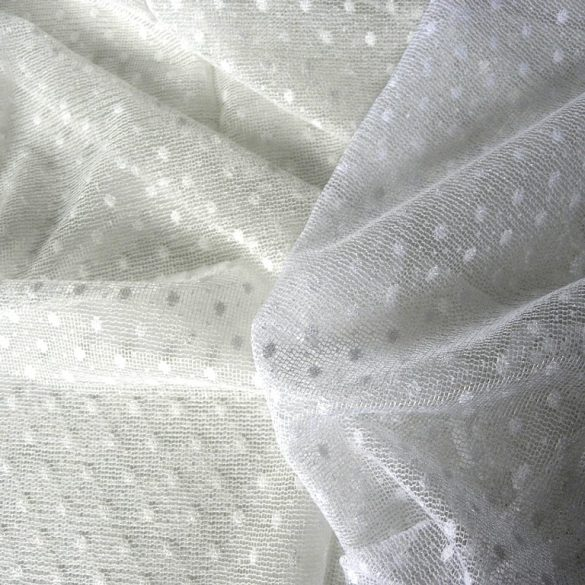 PÖTYI pöttyös mintás jacquard függöny fehér 270