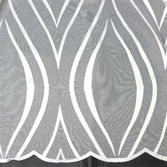 WAWY, fehér jacquard függöny anyag, modern hullám mintával