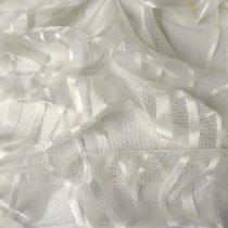 Jacquard  függöny anyag, modern hullám mintával 290 cm magas, ekrü