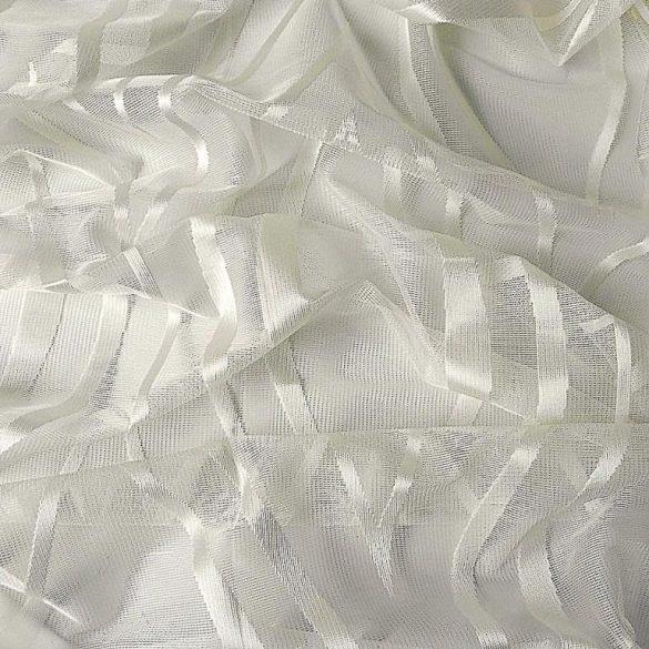 WAWY, ekrü jacquard  függöny anyag, modern hullám mintával, 290 cm magas