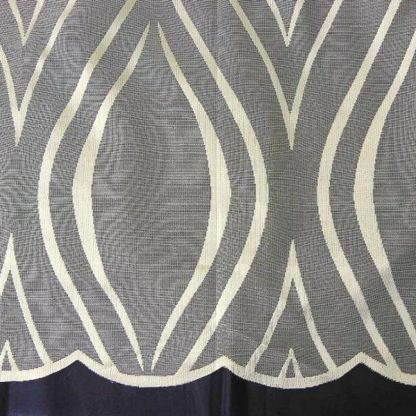 WAWY, ekrü jacquard függöny anyag, modern hullám mintával