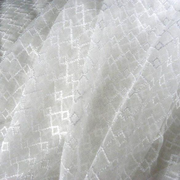 NEWERA fehér, jacquard csipke függöny anyag