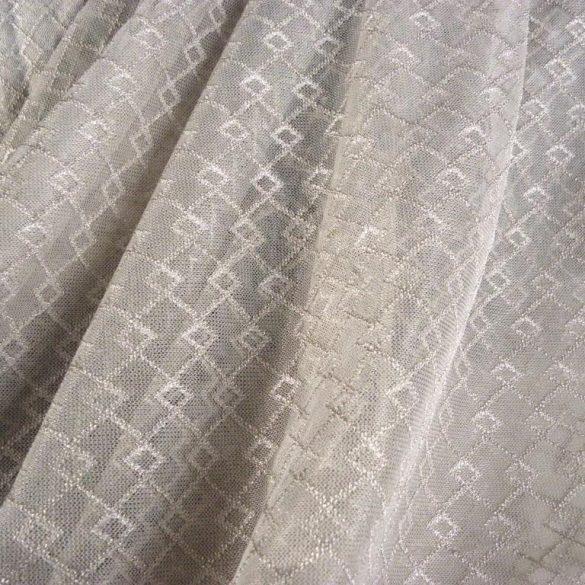 NEWERA taupe, jacquard csipke függöny anyag, egyszerű, rácsmintával, 330  cm magas