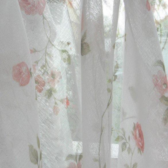 Rózsamintás, fényáteresztő, sablé függöny anyag