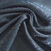 ROSARETTO, indamintás dekorfüggöny anyag, acélkék