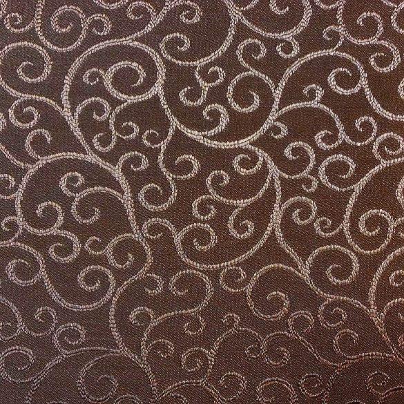 ROSARETTO, indamintás dekorfüggöny anyag,  barna