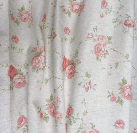 Deko Galdo, rózsamintás, lenhatású dekorfüggöny anyag