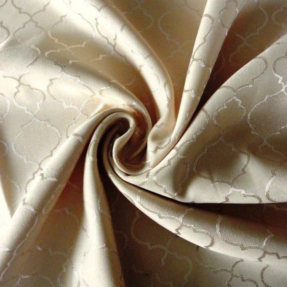 San Marino, klasszikus mintás dekorfüggöny anyag, bézs