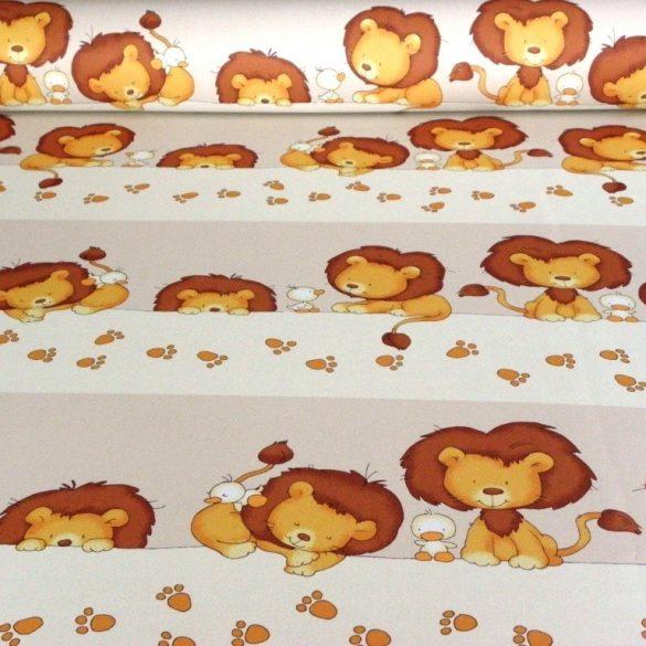 LEO, oroszlán mintás dim out sötétítő függöny méteráru