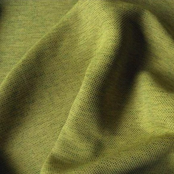RAVENSBURG, szövet mintázatú dim out sötétítő függöny anyag, kiwi