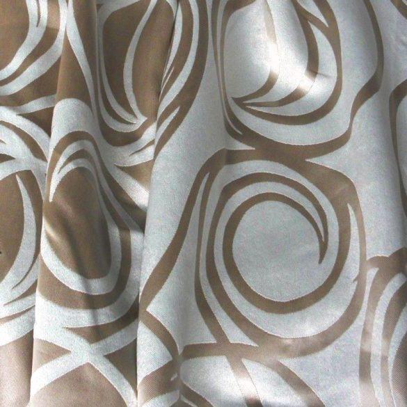 RIGA, körmintás dim out sötétítő függöny anyag, bézs -maradék darab: 1,15 m