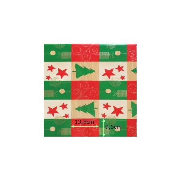 Karácsonyi mintás viaszosvászon, lemosható anyag