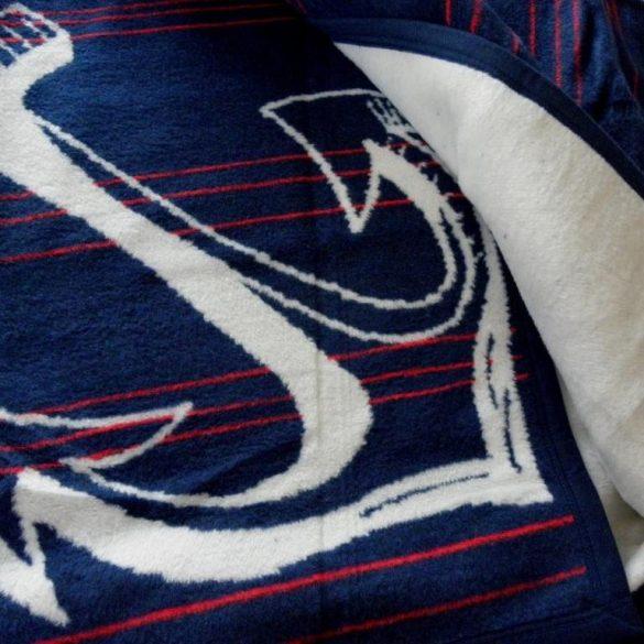 SAVA NAVY, 150x200 cm takaró, pléd