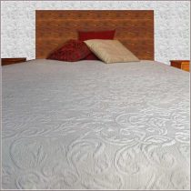 YVETTE, 01 bézs ágytakaró  240 X 260