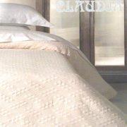 CLAUDIA ágytakaró ekrü, törtfehér színben