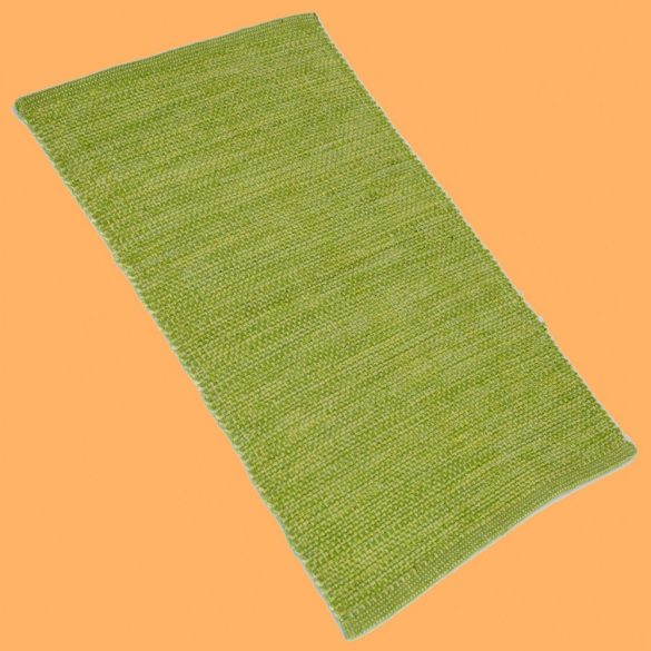 NATURAL, pamut szövött szőnyeg, kádkilépő, ágyelő, falvédő, zöld